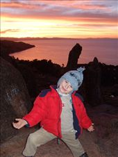 SB at sunset on Lake Titicaca, Bolivia: by klynne, Views[239]