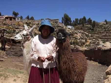 On Isla del Sol, Lake Titicaca Bolivia