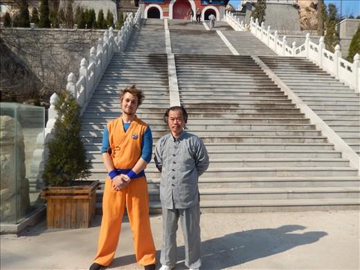 Goku and Master Yu