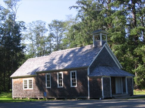 The old school house in Oysterville- a historic village with a school, church, farm shop, store and post office.