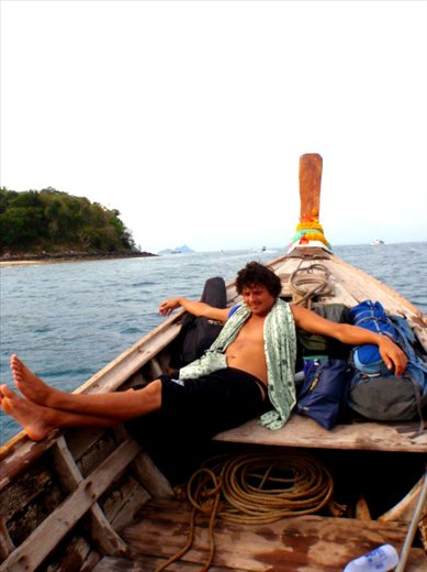 no roads on Phi Phi Don, only long boat taxis