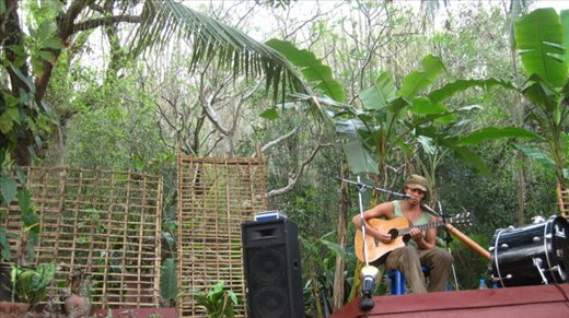 one of Brians many shows in Luang Prabang