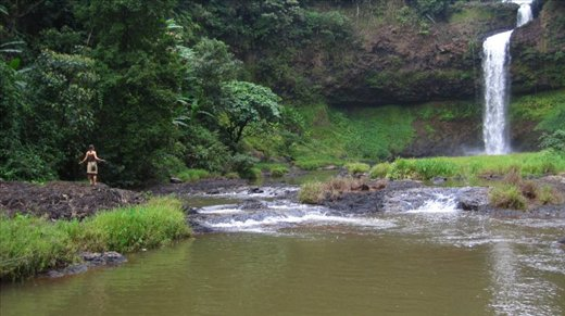 Bolaven Plateau is filled with rainforest and desserted waterfalls