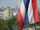 View with Thai flag and ubiquitous image of the King: by kpow, Views[187]