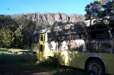 WWoof host 4, I slept in this old bus