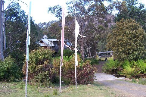 Prayer flags at entrance - Host 4
