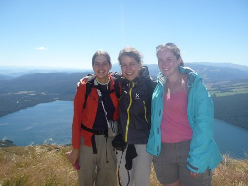 Me, Lotty (eng), and Judith (ger) atop Mt. Roberts Circuit track in Nelson Lakes National Park