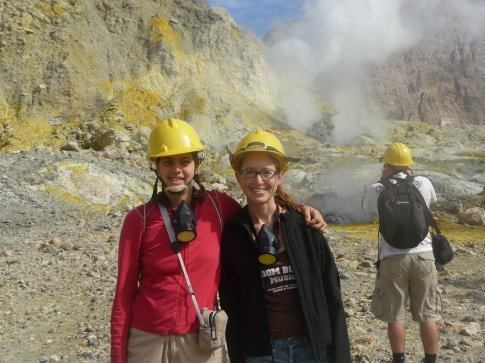 Ramona and I enjoying White Island, NZ's most active volcano