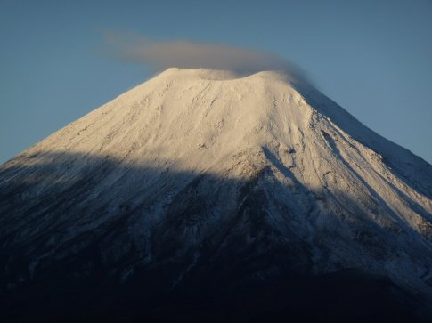 for 5 minutes out of 2 days, the cloud lifted off the top of Mt. Doom