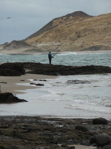 James fishing