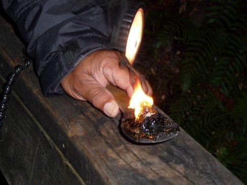 burning kauri gum as incense