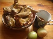 the chicken (sliced and prepared beforehand), and the rice wine: by kristianofilipino, Views[137]