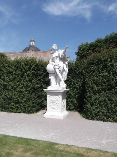 Female/Muse scultpure, Belvedere Garden lower level