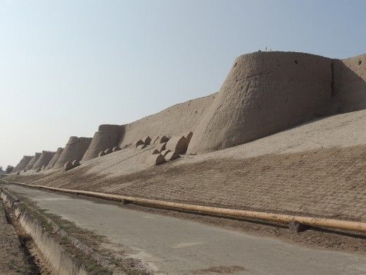 Khiva southern wall with tombs of holy men who will bless the city