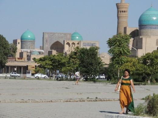 Bukhara street scene nearby Ark