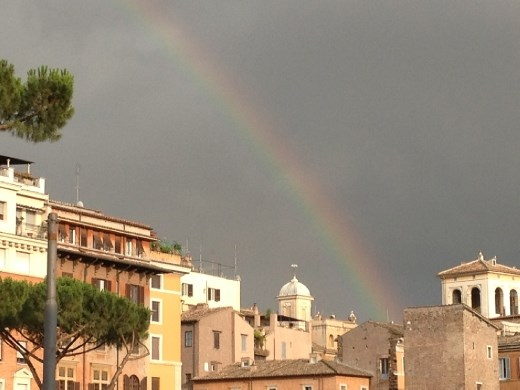 rainbow on vie dei Fori Imperiali