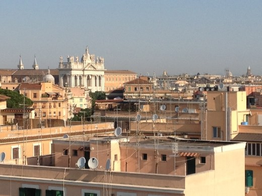 St. John's Lateran in background from hotel room