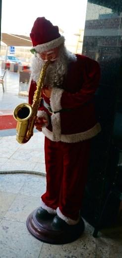 Santa at gas station en route to Alexandria