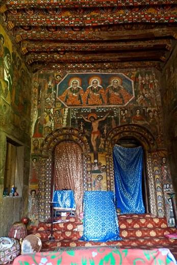 Inside Debre Birham Selassie Church