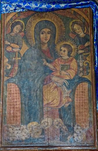Sacred Madonna in Debre Birham Selassie Church