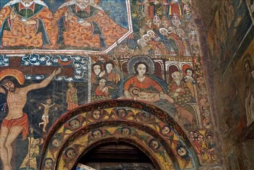 Madonna wall painting in Debre Birham Selassie Church