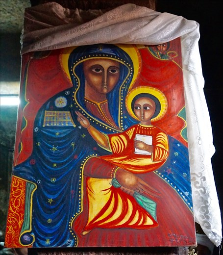 new Madonna painting Bet Meskel