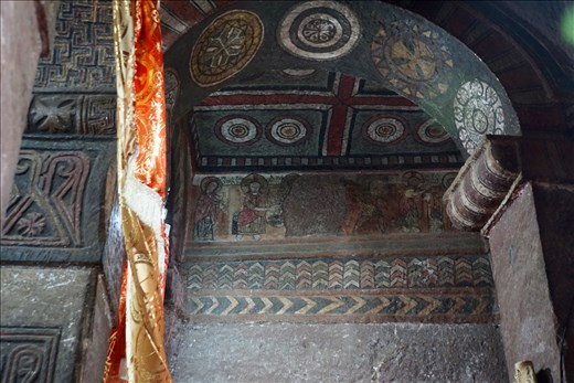 frescos inside Bet Debre Sina