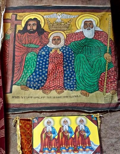 paintings inside Bet Mercurios