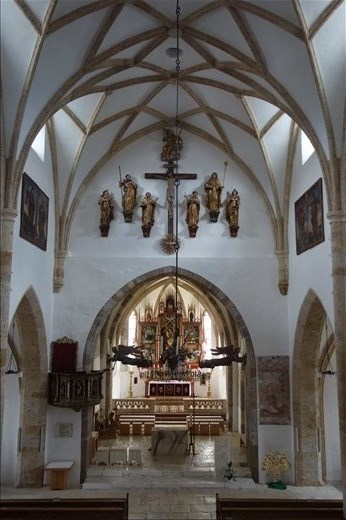 view of Mariapfarr Church from choir loft