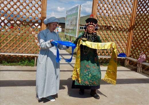Greeting at Buryat Cultural Center