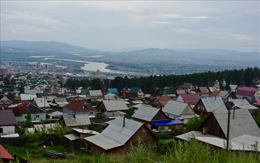 view of Ude and Selenga Rivers and Ulan-Ude from the monastery