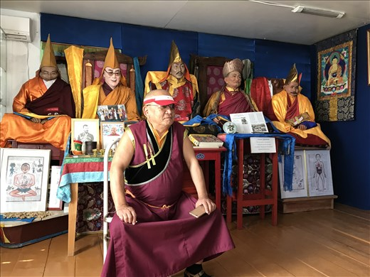 Atsagat Lama giving talk on Agvan Darzhiev, the 13th Dalai Lama's teacher