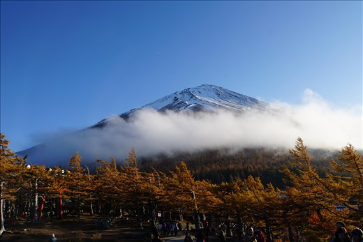 Mt. Fuji with cloud ring
