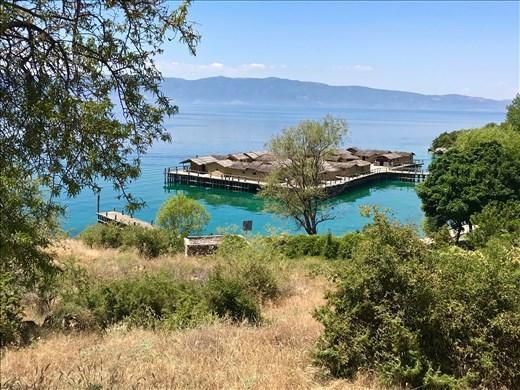 Museum on the Water, Neolithic Stilt Village reconstruction, Lake Ohrid