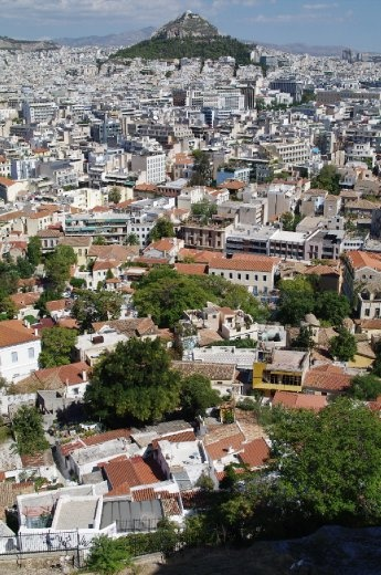 veiw of Athens from the Acropolis