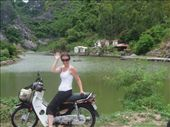 Me and my Honda Dream!  Well, it kinda ran like a dream.  brakes pretty rubbish actually which isn't a good thing in Cat Ba - lots of hills!!!: by ktphelan1980, Views[369]