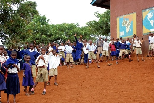 The initiative to drill boreholes for clean water access around schools allows the children more time in the classroom rather than walking long distances to a downstream river on the side of Mt. Kilimanjaro.