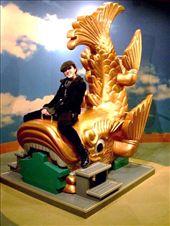 Look, I'm on the carp-dragon!! I mean...