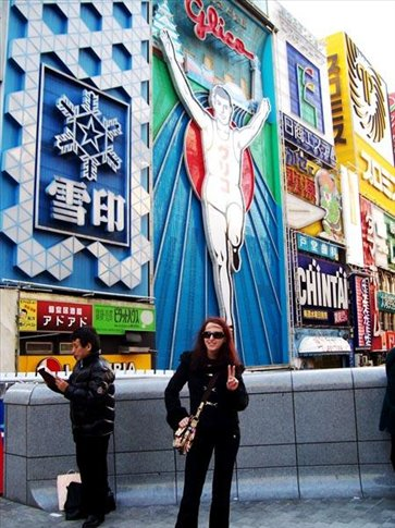 Just me and the Glico Man in Osaka's Dotombori