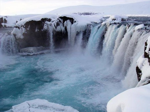 Goðafoss waterfall up north near Akureyri