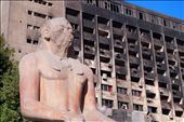 Ancient Egypt shadowed by the burnt out shell of the 2011 Egyptian Revolution.: by kyekemp, Views[123]