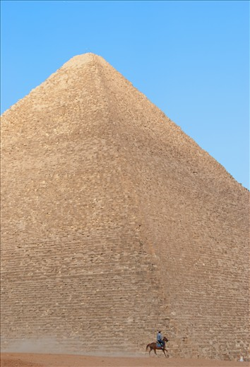 The magnitude of the Great Pyramids can only be undestood when compared to Man.