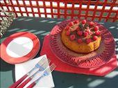 Gateau au yaourt with crushed raspberries & fleur de sel: by la_voyageur, Views[267]