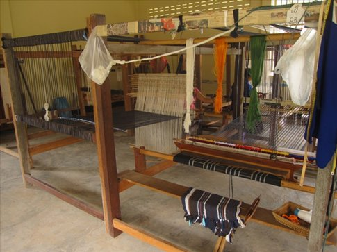Little silk weaving factory we stopped at...