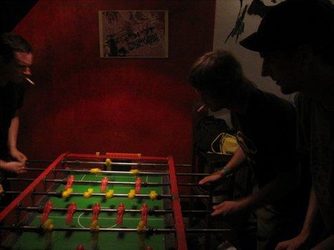 playing some foooseball
