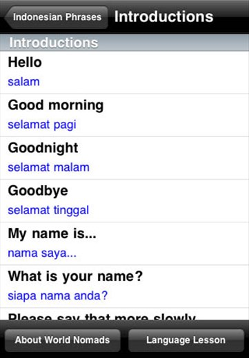 A screenshot from our Indonesian language guide