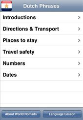 A screenshot from our Dutch language guide application for iPhone & iPod touch: by language-guides, Views[2688]