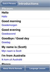 A screenshot from our Dutch language guide application for iPhone & iPod touch: by language-guides, Views[5014]