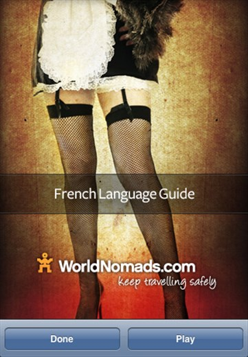 A screenshot from our French language guide