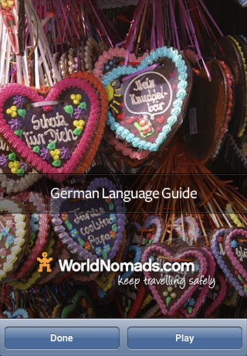 A screenshot from our German language guide